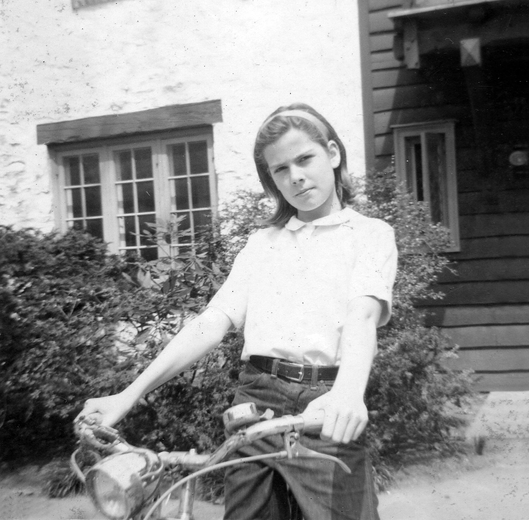 Anne on bicyle
